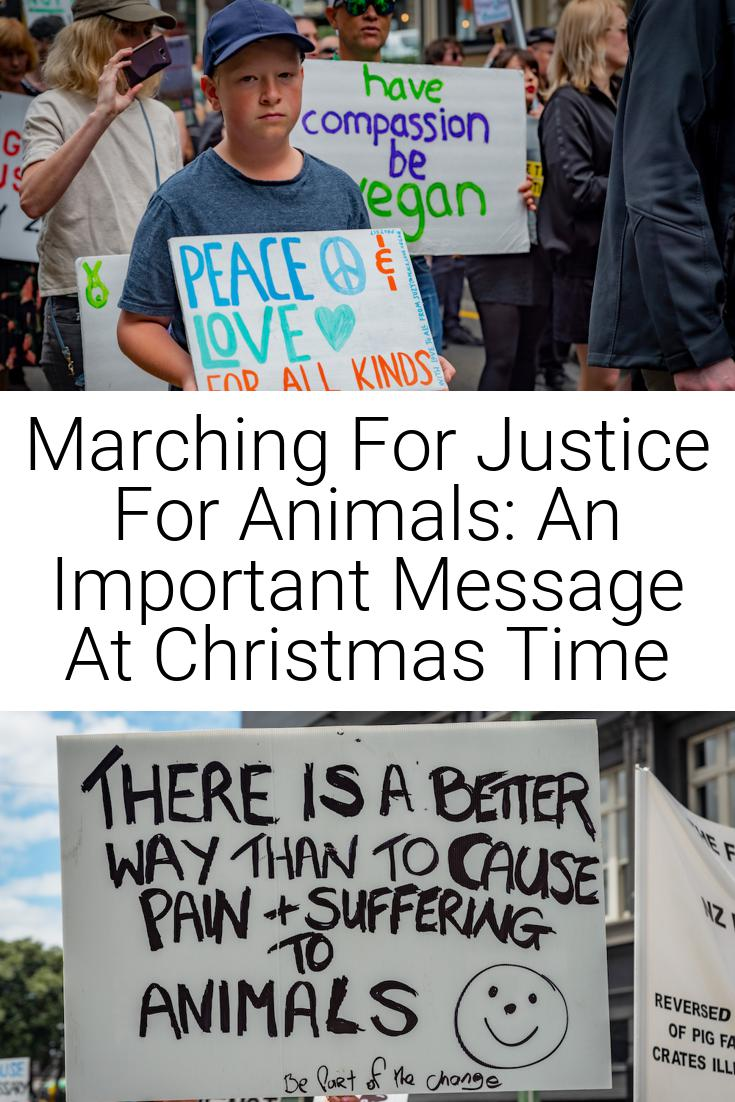Marching For Justice For Animals: An Important Message At Christmas Time