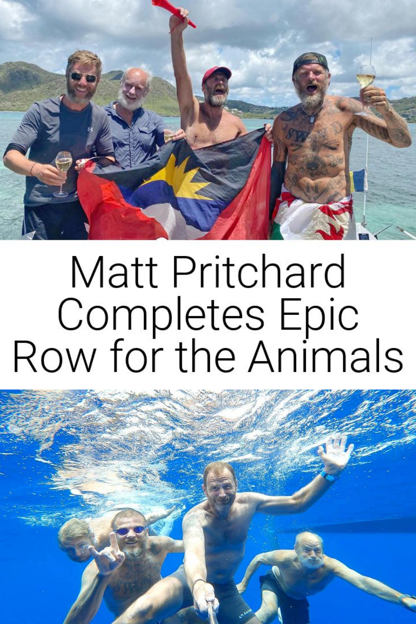 Matt Pritchard Completes Epic Row for the Animals
