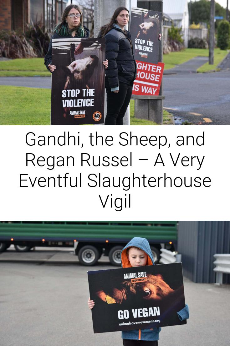Gandhi, the Sheep, and Regan Russel – A Very Eventful Slaughterhouse Vigil