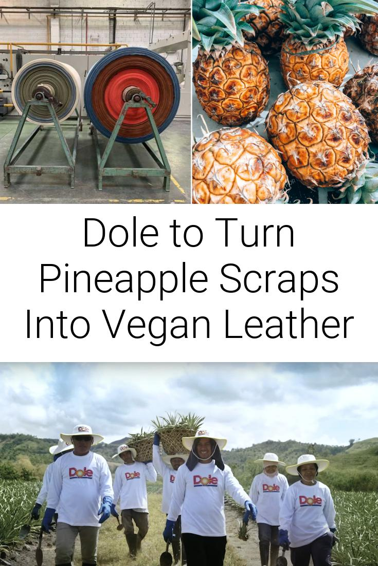 Dole to Turn Pineapple Scraps Into Vegan Leather